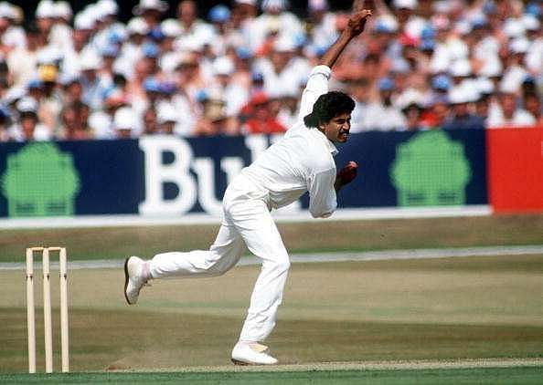 Kapil Dev picked up his 432nd wicket at theMotera.
