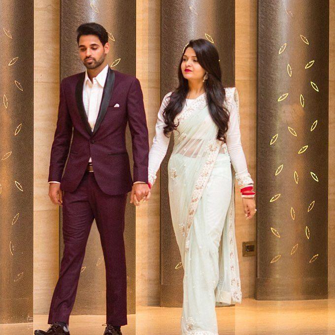 Bhuvneshwar Kumar with his Wife