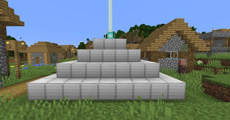 A fully empowered beacon in Minecraft. (Image via Minecraft)