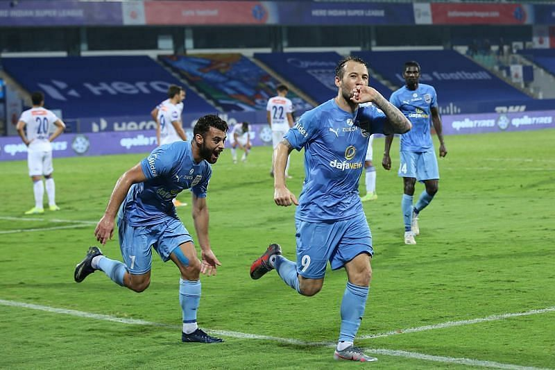 Adam Le Fondre is the top scorer for the Mumbai City FC side (Courtesy - ISL)