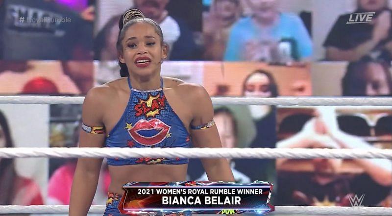 बियांका ब्लेयर 2021 विमेंस Royal Rumble मैच की विजेता बनी