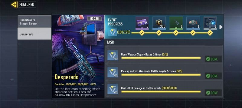 Activision has added the Desperado class as an unlockable challenge in COD Mobile (Image via Activision)