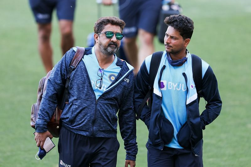 Kuldeep Yadav (R) has not played a Test since January 2019