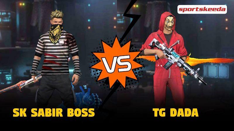 SK Sabir Boss vs TG Dada in Garena Free Fire