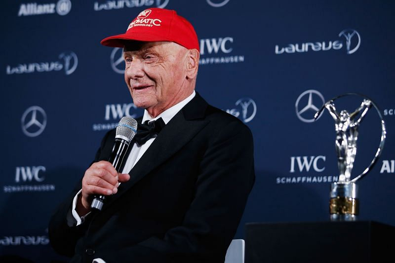 Niki Lauda at the Laureus World Sports Awards, Berlin. Photo: Getty Images