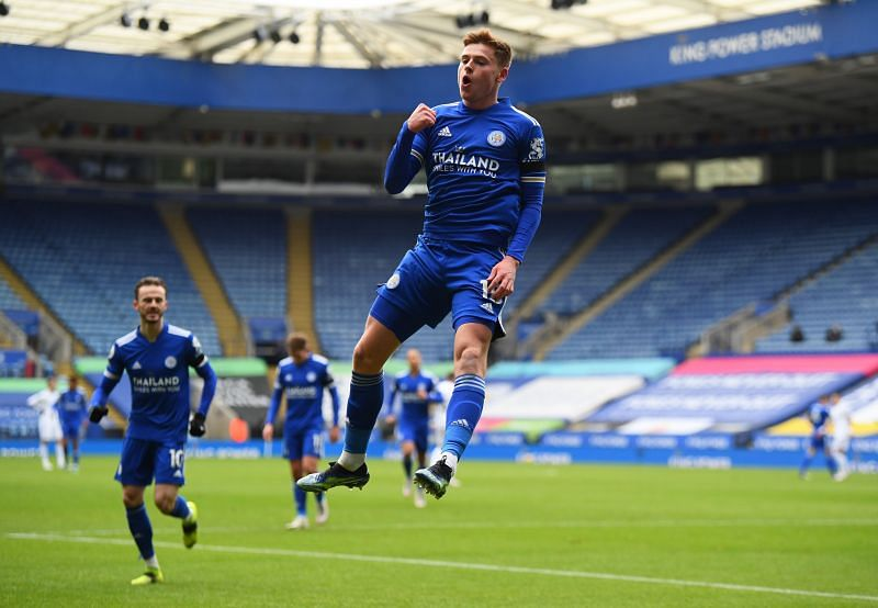 Harvey Barnes opened the scoring in Leicester's 3-1 loss to Leeds United