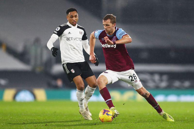 Tomas Soucek in action for West Ham