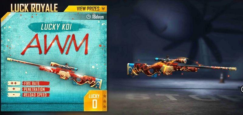 The Lucky Koi skin makes the AWM even deadlier (Image via Garena)