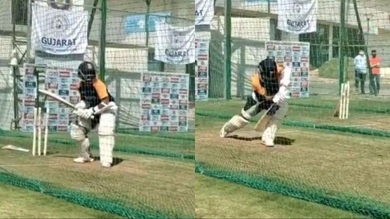 Ajinkya Rahane got some valuable net practice before the pink-ball Test.