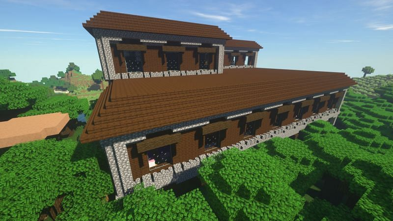 Another shot of a woodland mansion (Image via Minecraft)