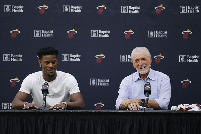Jimmy Butler and Pat Riley