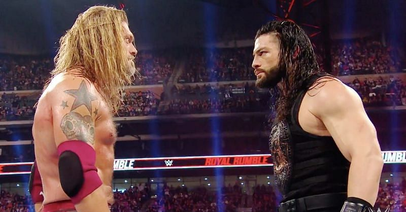 Roman Reigns and Edge in WWE