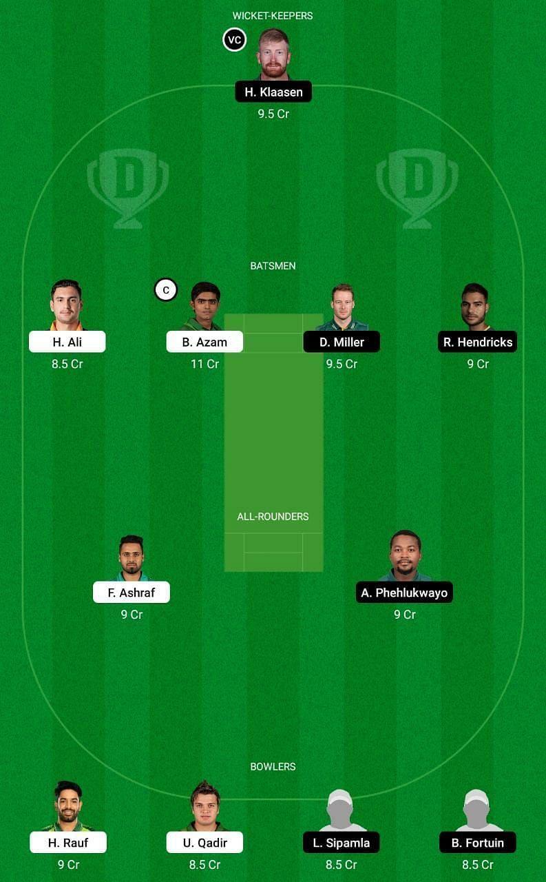 Pakistan vs South Africa Dream11 Tips