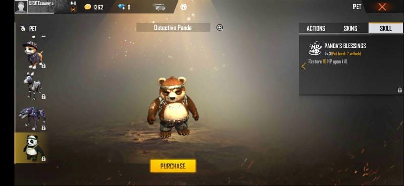 Detective Panda in Free Fire