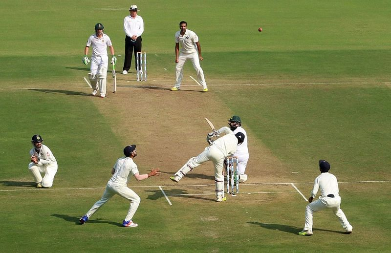 The Nagpur pitch offered excessive turn and uneven bounce (Image courtesy Cricket Australia)