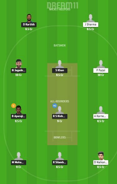 TN vs VID Dream11 Team Suggestions