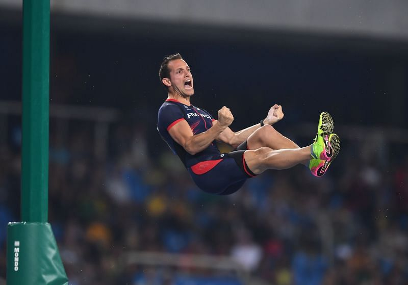 Renaud Lavillenie of France competes in the Men