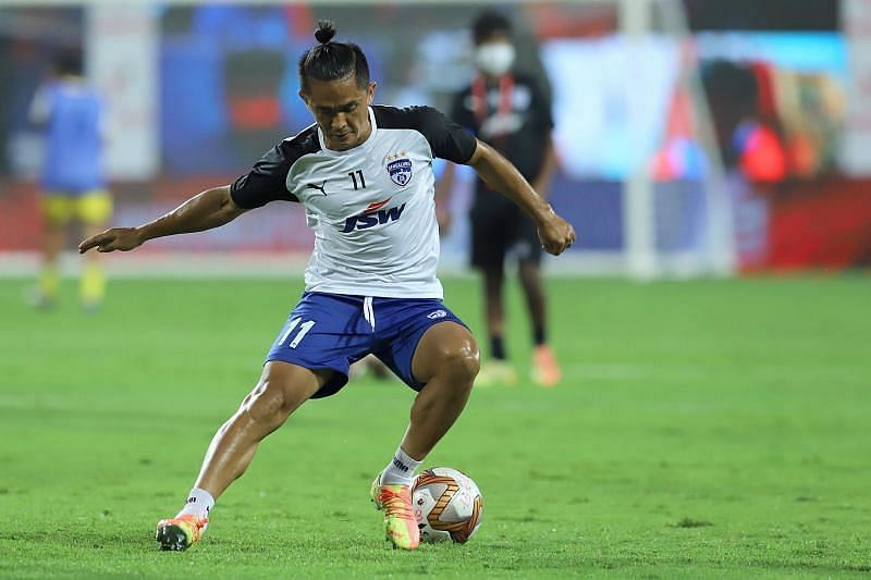 Sunil Chhetri scored twice against his former ISL side Mumbai City FC (Courtesy - ISL)