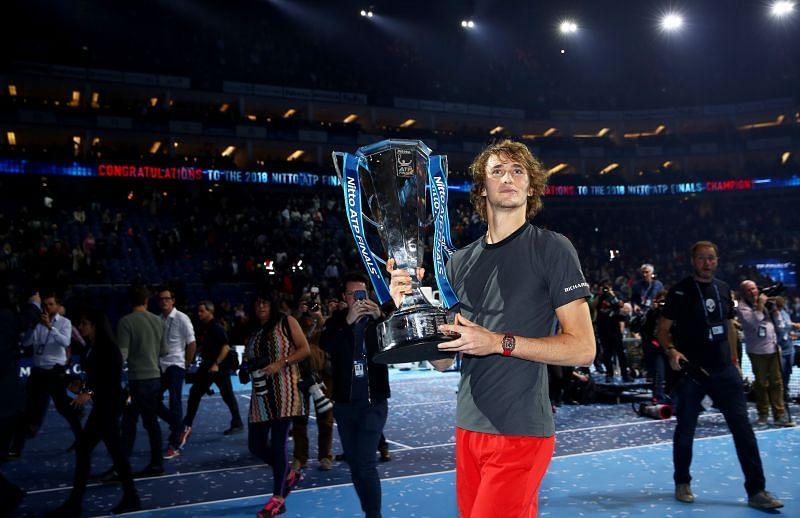 Alexander Zverev defeated Novak Djokovic to win the 2018 ATP Finals