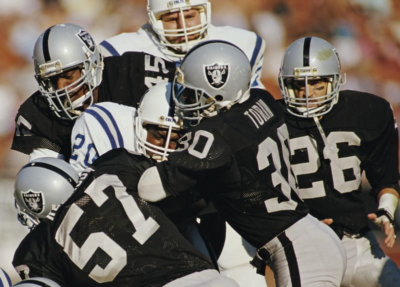 Oakland Raiders defense did not give up more than two touchdowns in all three Super Bowl wins