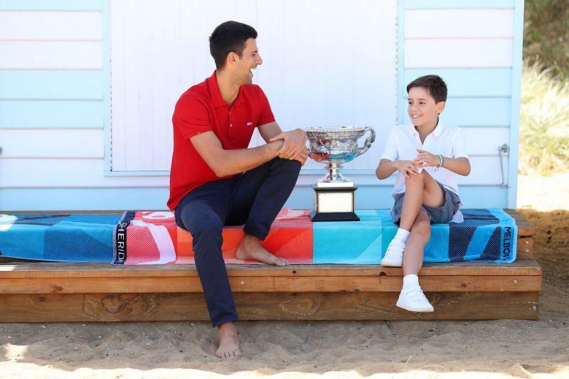 Novak Djokovic at his Australian Open media day