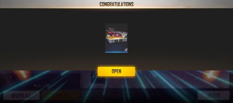 The players can collect the rewards from the in-game mail section.