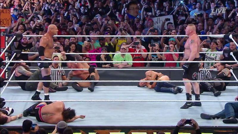 Goldberg and Brock Lesnar in WWE