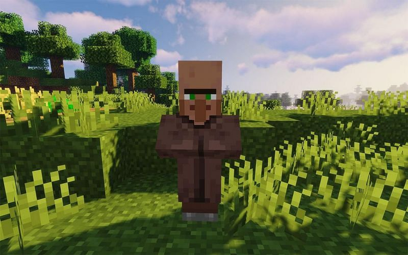 A villager in the Minecraft world (Image via wallpapercave.com)