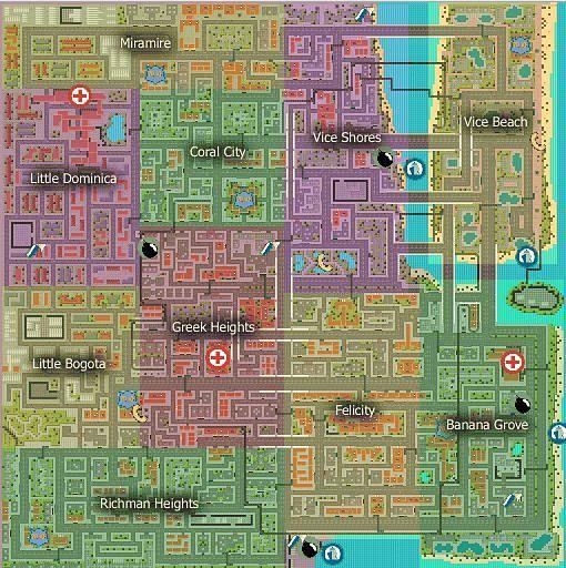 Vice City as seen in GTA 1 (Image via GTAForums)