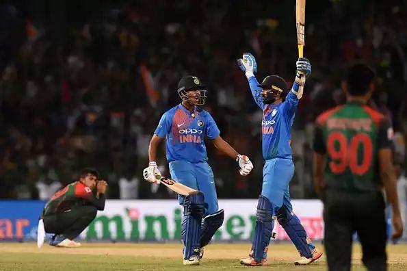 Dinesh Karthik celebrates after hitting the winning wrong (Photo: Twitter)