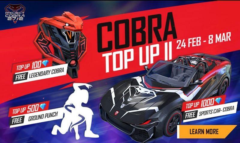 Cobra Top Up II in Free Fire