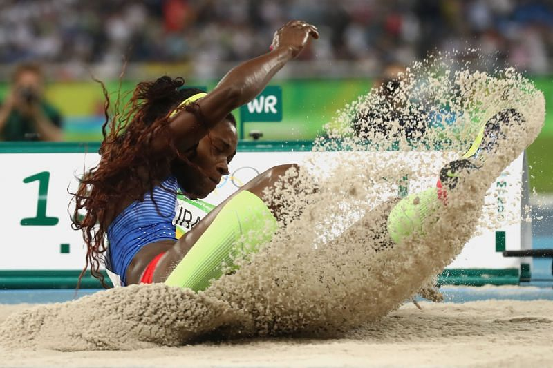 Caterine Ibarguen competes at the Rio 2016 Olympic Games
