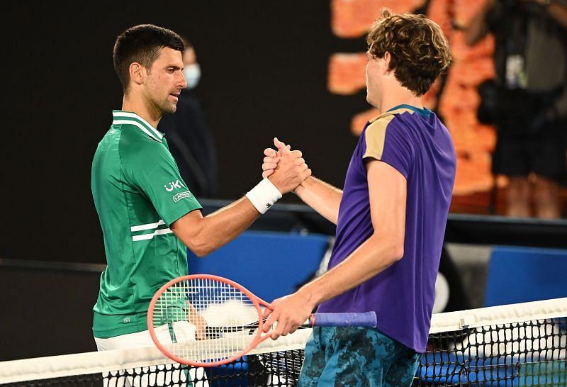 Novak Djokovic after defeating Taylor Fritz