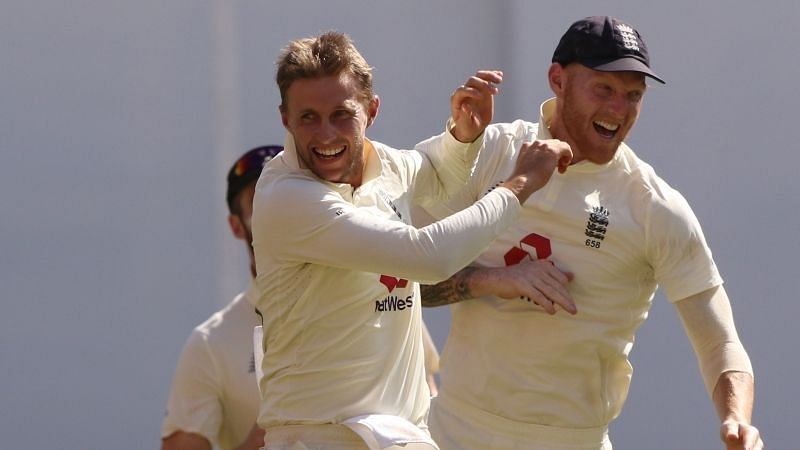 Joe Root (left) with Ben Stokes (right)