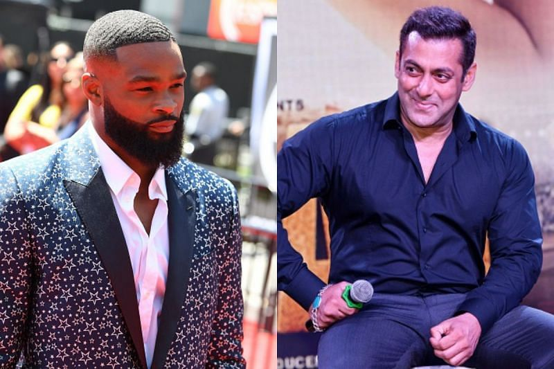 Tyron Woodley (left) and Salman Khan (right) have shared time on the big screen.