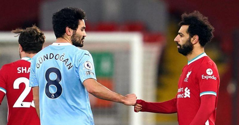 Ilkay Gundogan(L) and Mo Salah(R) will be top FPL picks in Gameweek 26.