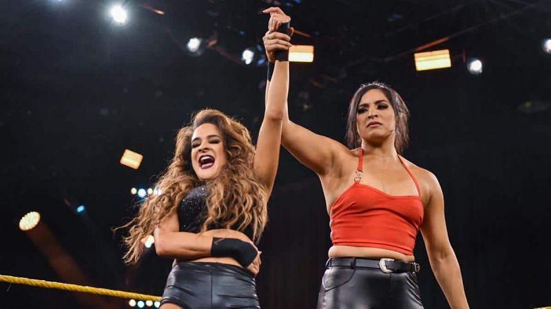 Dakota Kai and Raquel González in WWE NXT