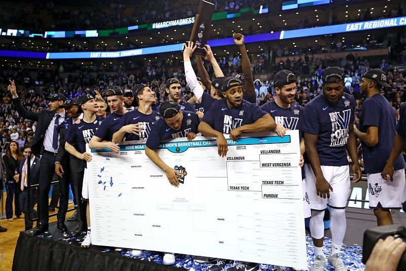 The Villanova Wildcats add their name to the March Madness bracket as regional champions.