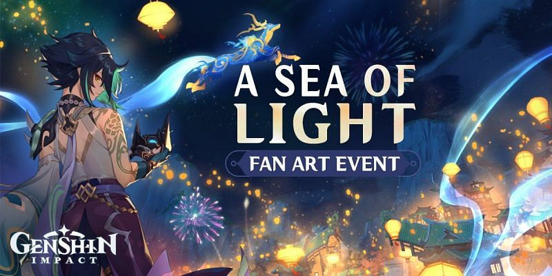 A Sea of Lights fan-art event (Image via Mihoyo Official)
