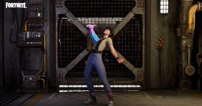 The Burst Case Scenario emote in Fortnite (Image via Epic Games)