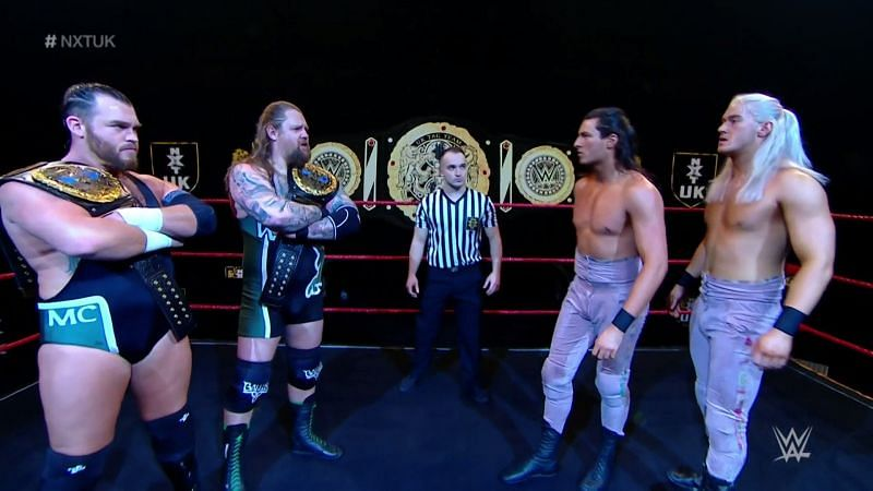 The NXT UK Tag Team Championships were on the line