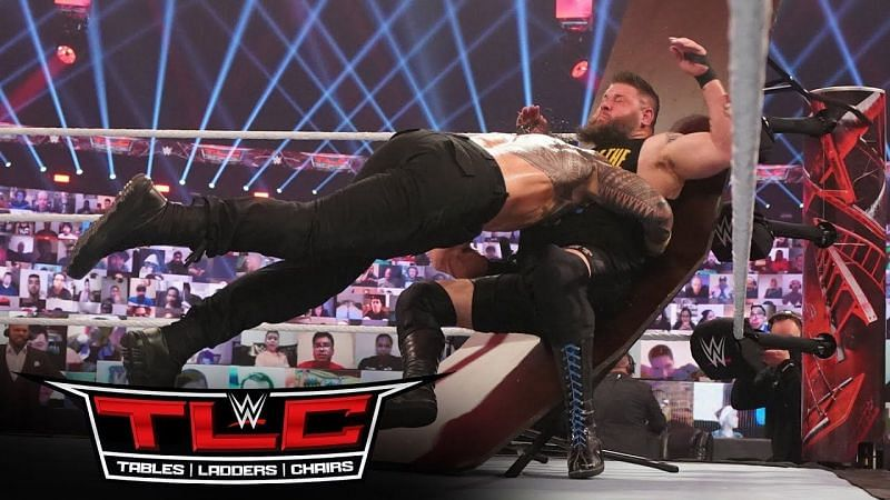 Roman Reigns defeated Kevin Owens at TLC 2020 and the 2021 Royal Rumble
