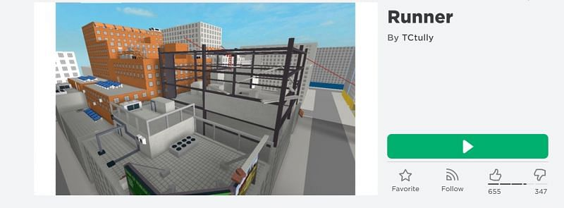 The Runner game on Roblox (Image via Roblox.com)