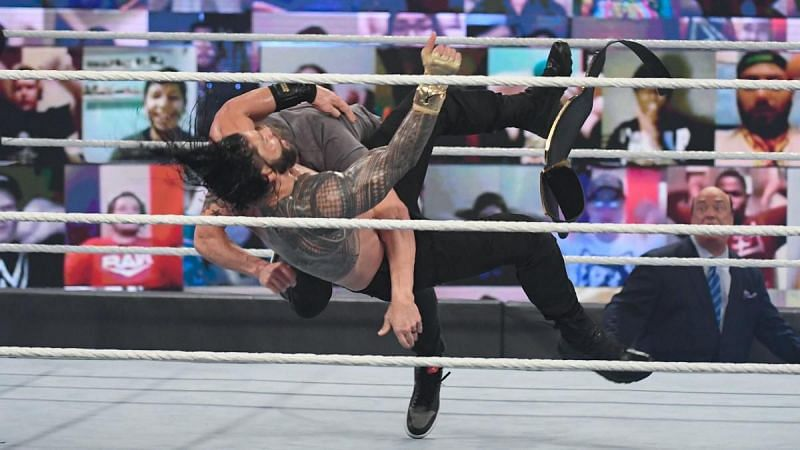 The Spear makes the WWE Championship official.