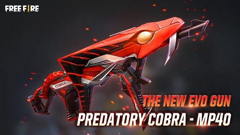 The Predatory Cobra MP40 is the fourth Evo Gun skin in the game (Image via Free Fire)