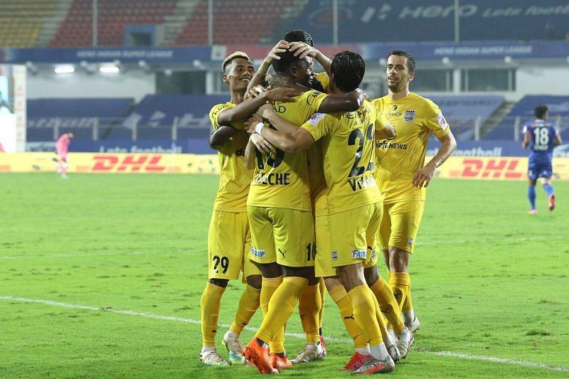 Bipin Singh and Bartholomew Ogbeche led Mumbai City FC to a dominant victory. Courtesy: ISL