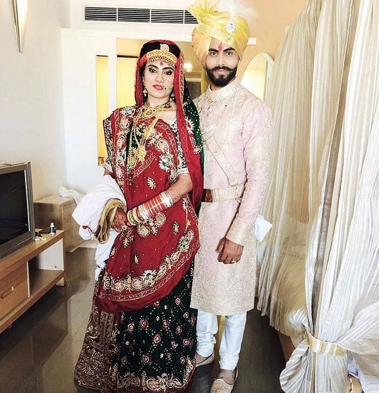 Ravindra Jadeja and his wife
