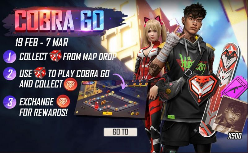 New Cobra Go event in Free Fire
