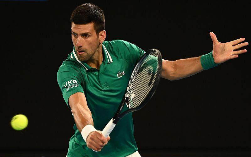 Novak Djokovic played through injury to beat Taylor Fritz in five sets