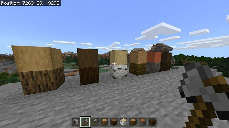 Usage of axe in Minecraft